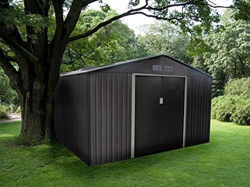 Gardiun KIS12962 - Caseta Metálica Bristol 7, 74 m² Exterior ...