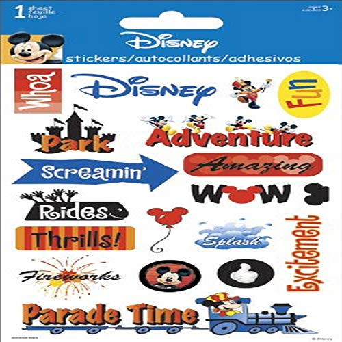 """Sandylion Disney Adventure Gems Stickers 4""""x6½"""" sheet"""