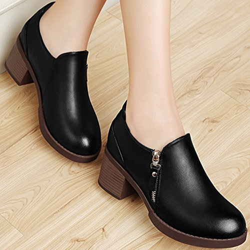 KHSKX-Shoes With Spring All-Match Korean Crude Shoes Leisure Shoes And Fashion Shoes In Winter Black mJ2iLun