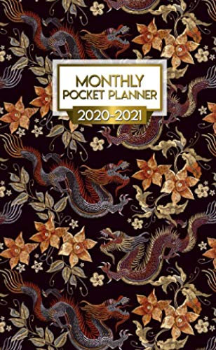 2020-2021 Monthly Pocket Planner: Traditional Chinese Dragon Two-Year Monthly Pocket Planner with Phone Book, Password Log and Notebook. Pretty 2 Year ... Agenda, Diary, Calendar and Organizer. (Best Traditional Baby Names)