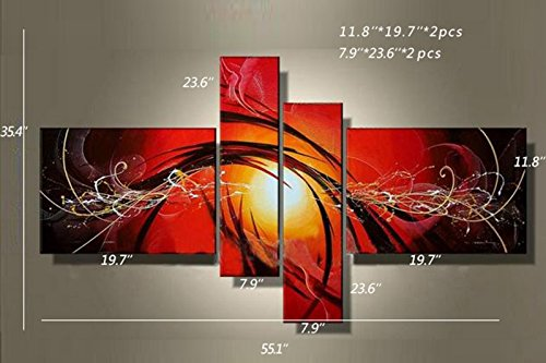 Multi Panel Canvas Wall Art 100% Hand Painted Oil Painting On Canvas Abstract Large Cheap House Decoration Paintings