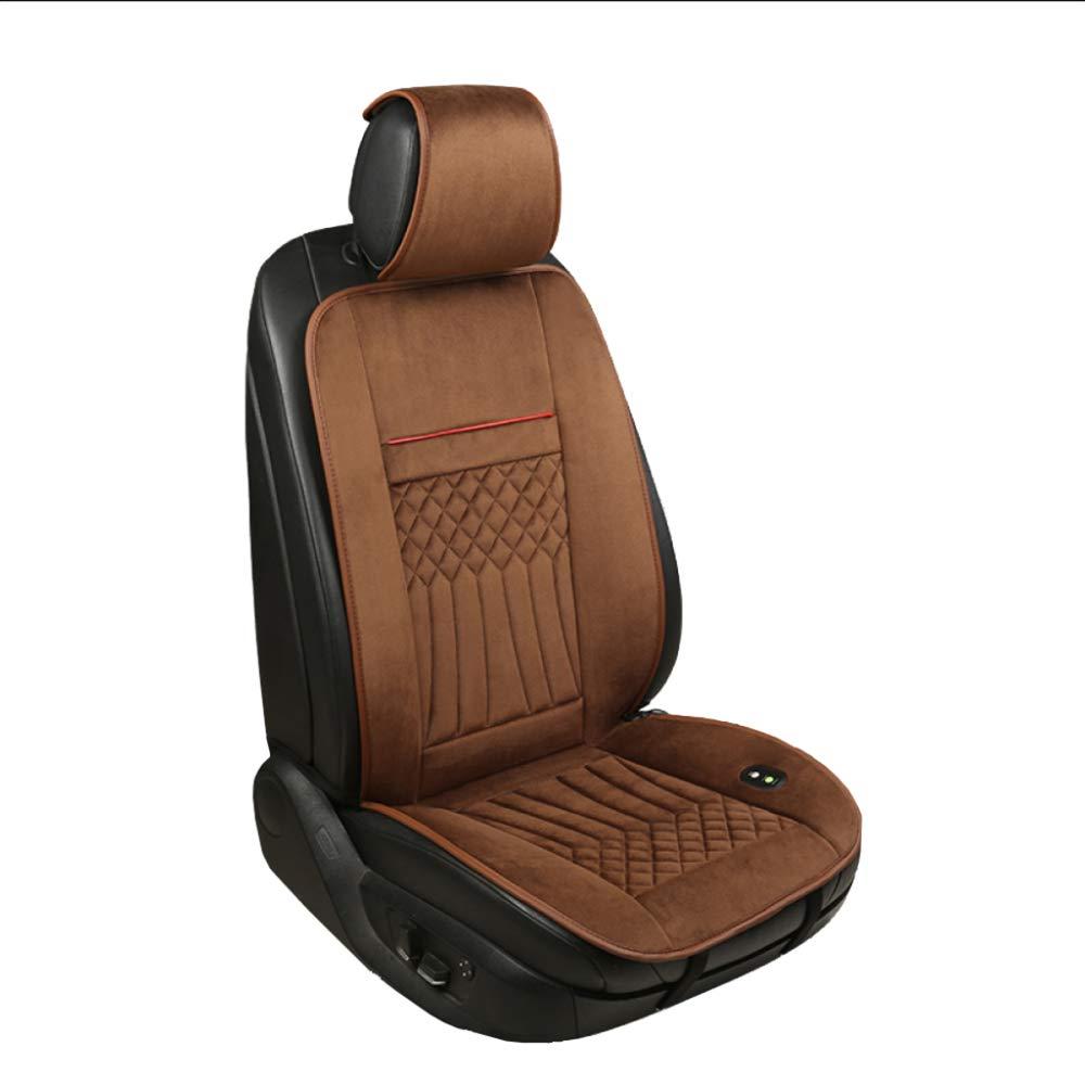 XINGWEI CAR Beheizte Autositzbezü ge, Konstante Temperatur Heizung Integriert, Universal Beheizte Auto-Pad, Einzel- / Doppelsitz,Black-SEAT(1) DHJVN