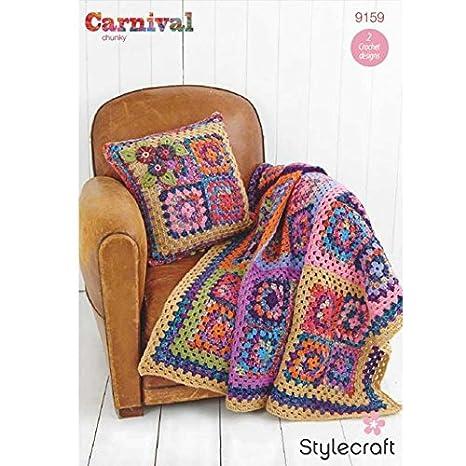 Amazon.com: Stylecraft Home Granny – Cojín cuadrado ...