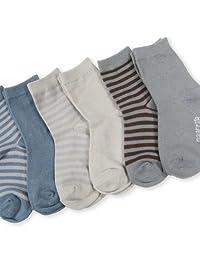 TeeHee Naartjie Kids Boys Solid and Stripes Assorted Colors 6-Pack Neutral