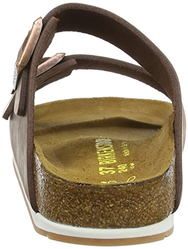 Birkenstock Arizona Leder - Mules Unisex adulto MarrÃf³n (Habana/Ls Softy Comfort)