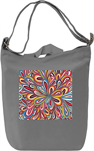 Colorful Abstract Print Borsa Giornaliera Canvas Canvas Day Bag| 100% Premium Cotton Canvas| DTG Printing|