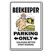 Beekeeper Novelty Sign | Indoor/Outdoor | Funny Home Décor for Garages, Living Rooms, Bedroom, Offices | SignMission raising bees Wall Plaque Decoration
