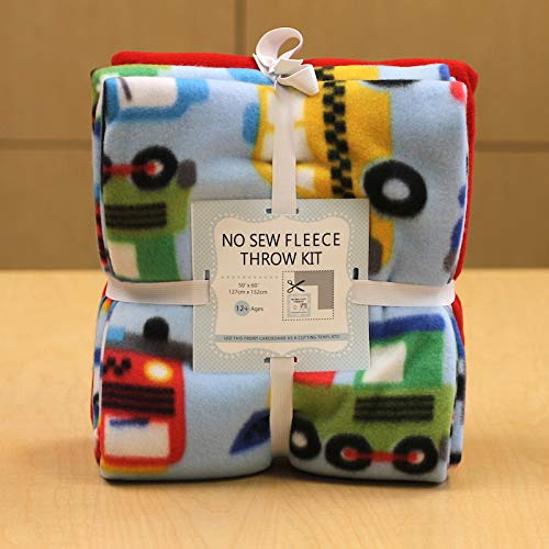 (Kiddie Car No-Sew Throw Fleece Fabric Kit (50x60))