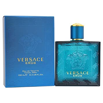 Amazon.com  Versace Eros Eau de Toilette Spray for Men, 3.4 Ounce ... 29645cdb991