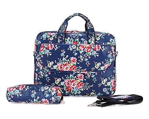 Laptop Protectora Funda Sleeve para Ordenadores Laptops / Notebooks / Ultrabooks Azul Flor