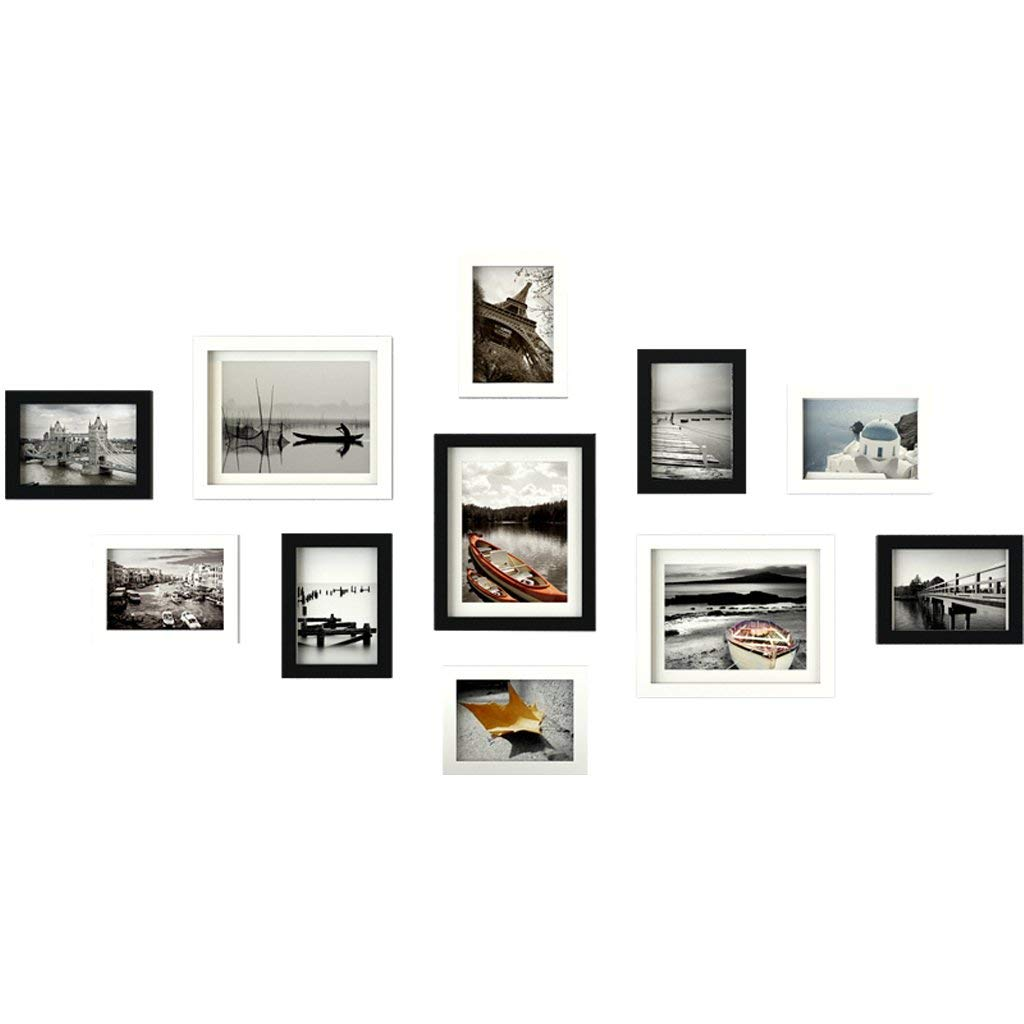 Amazon com aidou photo frames eco wood frame combination european style living room decorative wall 11 collage photo frames