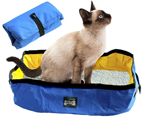 Foldable and Portable Cat Litter Box / Pan, No Smell Waterproof litterbox for pets when Traveling, during Car Rides, for Rest Stops or Airports Layovers,Travel Kitty Bed,indoor or outdoor litter pan