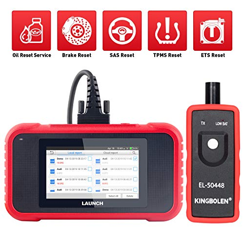 (LAUNCH OBD2 Scanner CRP129E Engine/ABS/SRS/Transmission 4 Systems Diagnostic Tool with Oil lamp/EPB/SAS/TPMS/TPS Reset,Diagnostic Report Generate/Share,One-Click WIFI Free Update + TPMS Tool EL-50448)