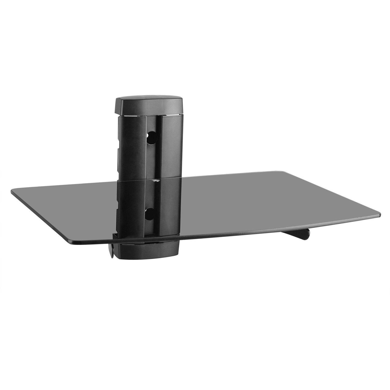 Single tempered black glass wall mount floating amazon single tempered black glass wall mount floating amazon electronics amipublicfo Gallery