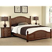 Home Styles Marco Island Queen Bed and Night Stand