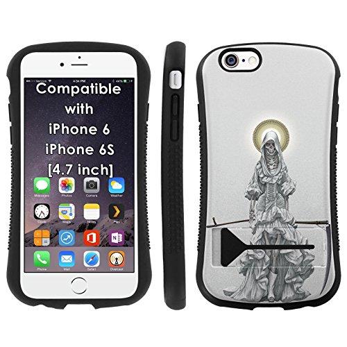 Mobiflare Armor Hybrid Grip Phone Cover for [iPhone 6/6s] - Santa Muerte (Case Muerte Iphone Santa 6)