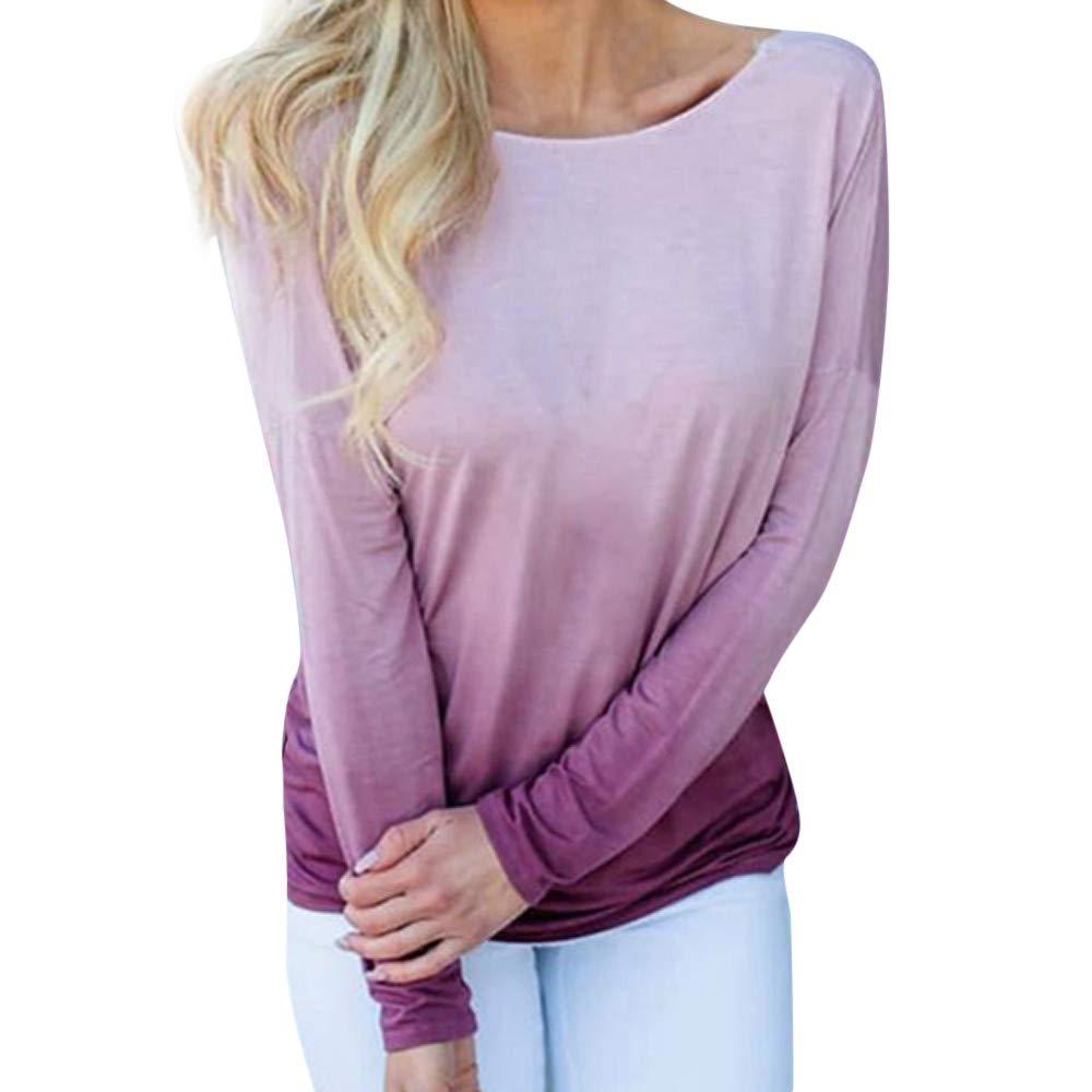 Molyveva Women Casual Print Backless Cross Long Sleeve T-Shirt Lady Tops Blouse Old Tree Store