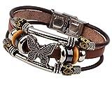 LNKRE JEWELRY Charms Triple Strand Bali Beads Leather Pendants Bracelets A2