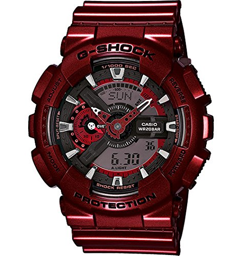 G-Shock GA110NM-4A Metallic Color Series Luxury Watch - Red / One Size