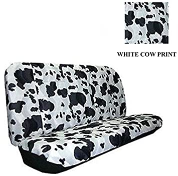 Amazon.com: Universal-fit Animal Print Bench Seat Cover - Cow ...