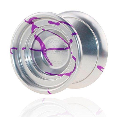 Qiyun Yo Yo Ball Professional Magic Yo Yo Ball Aluminum Alloy Bundle Ball with String as Christmas Gift for Children
