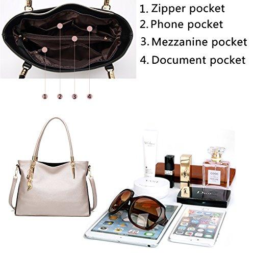 in donna pelle shopping donna a SDINAZ borsa Bianco PU a Borsa lavoro tracolla moda alla per Borsa da tracolla da w7qBCX