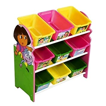 Merveilleux Nick Jr. Dora The Explorer 3 Tier 9 Bin Toy Organizer