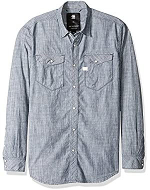 Men's Tacoma Deconstructed Ticking Stripe Shirt L/s