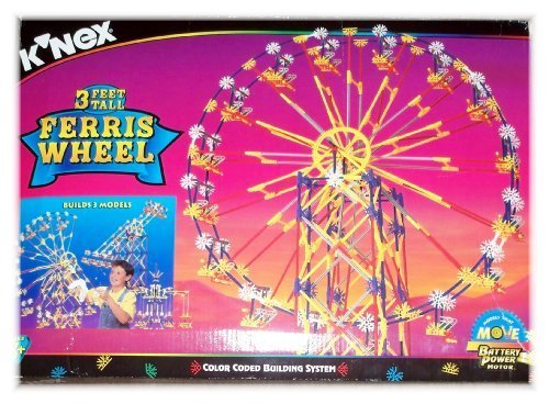 K'nex 3 Feet Tall Ferris Wheel - Builds 3 Models Including Swing Ride and Boom Ride - 1000 pieces