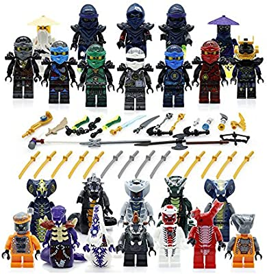 BrickDonCustoms Ninja - Juego de 24 Figuras de Ninja Heroes ...