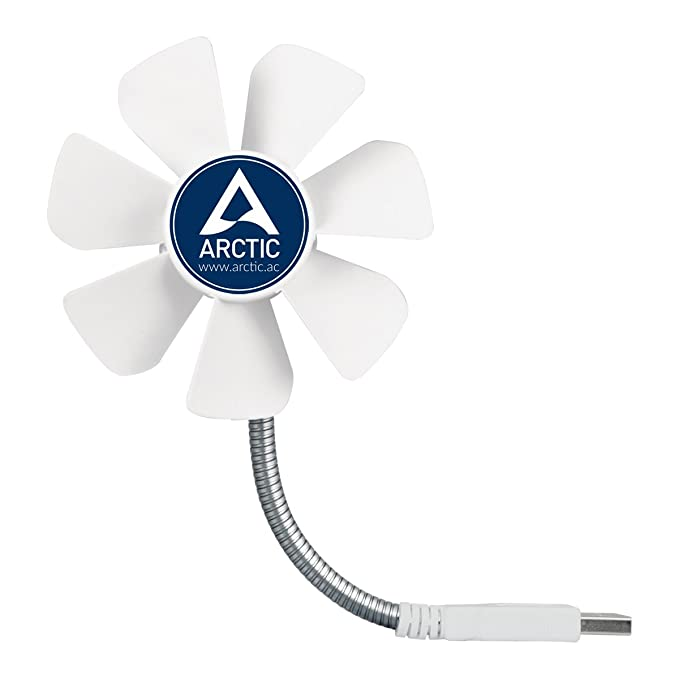 Arctic Breeze - Ventilador de escritorio USB con velocidad regulable y cuello flexible: Amazon.es: Informática