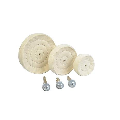 "4 Pc 6/"" Cotton Buffing Polishing Polish Buff Buffer Wheels Pad for Bench Grinder"