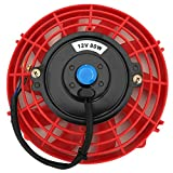 7 electric fan kit - Upgr8 Universal High Performance 12V Slim Electric Cooling Radiator Fan With Fan Mounting Kit (7 Inch, Red)