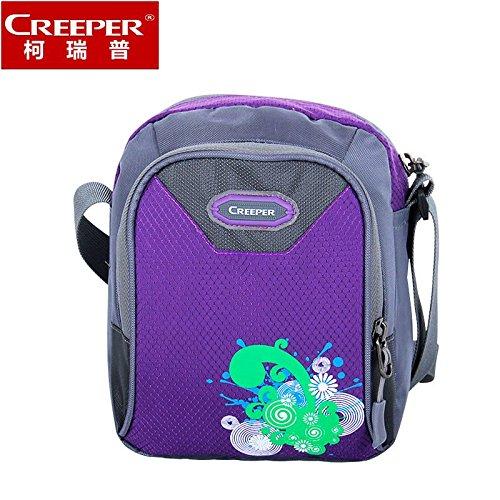 ZQ Paquete diagonal al por mayor de hombro ocasional hombres y mujeres bolsa de deporte al aire libre de paquetes tela de nylon repelente al agua bolsa de viaje mochila , purple-20 liters , purple-20  green-20 liters