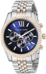 Michael Kors Watches Lexington Chronograph Stainless Steel Watch