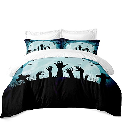 Rhap Quilt Cover Twin Size, Cartoon Holloween Printed