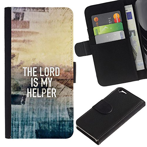 EuroCase - Apple Iphone 6 4.7 - THE LORD IS MY HELPER - Cuir PU Coverture Shell Armure Coque Coq Cas Etui Housse Case Cover