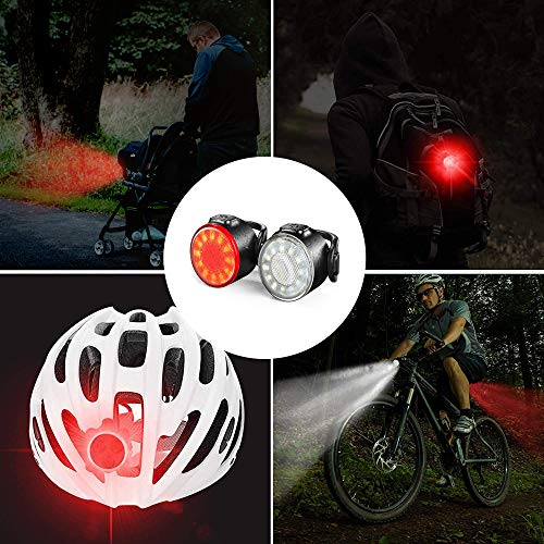 Oture LED Bike Lights Set, Headlight Taillight Combinations, USB Rechargeable Super Bright 6 Light Mode Options, IPX5 Waterproof Night Bicycle Lights