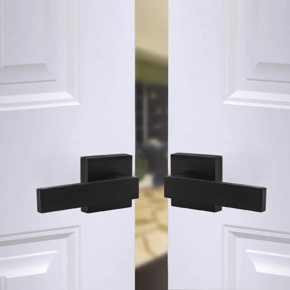 Probrico half-dummy puerta pomo para puerta Interior negro puerta Hardware negro
