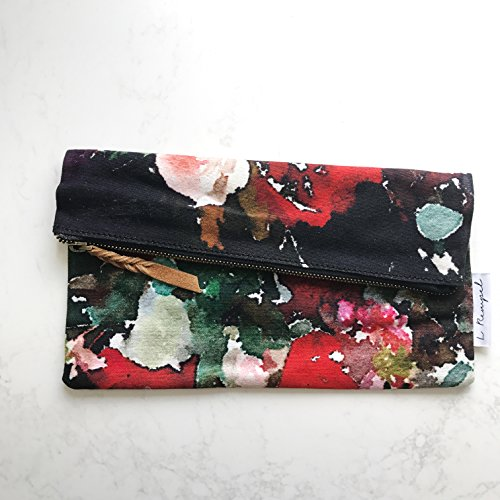 Use amp; Clutch Watercolor Functional L Art Zippered Foxglove Large Pouch Bag Multi Rempel Art Pouch p4wY48vq