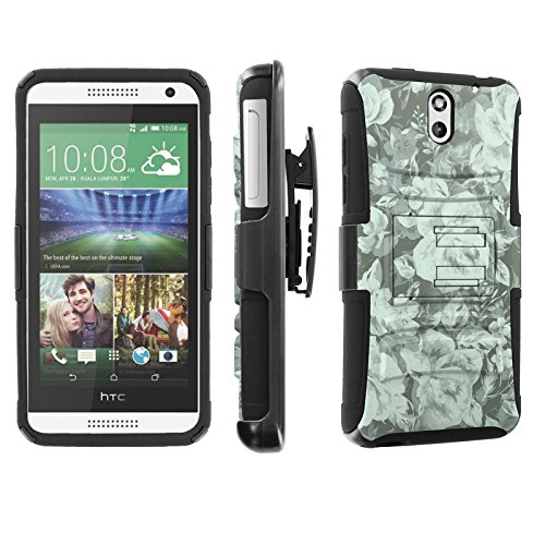 [SkinGuardz] Case for HTC Desire 610 [Heavy Duty Ultra Armor Tough Case with Holster] - [Teal - Htc Cases Desire For Teal 610
