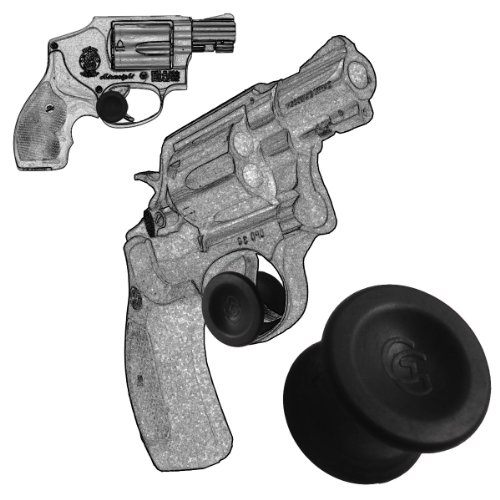 """3 Pack Smith And Wesson Revolver """"J Frame"""" .22 Long Rifle .22 Magnum .357 Magnum 38 Special Concealed Carry Micro Holster Trigger Stop (Black)"""