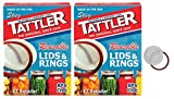 reusable canning jars - Tattler Reusable Regular Size Canning Lids 12 count - 2 Pack (Total 24 Lids)