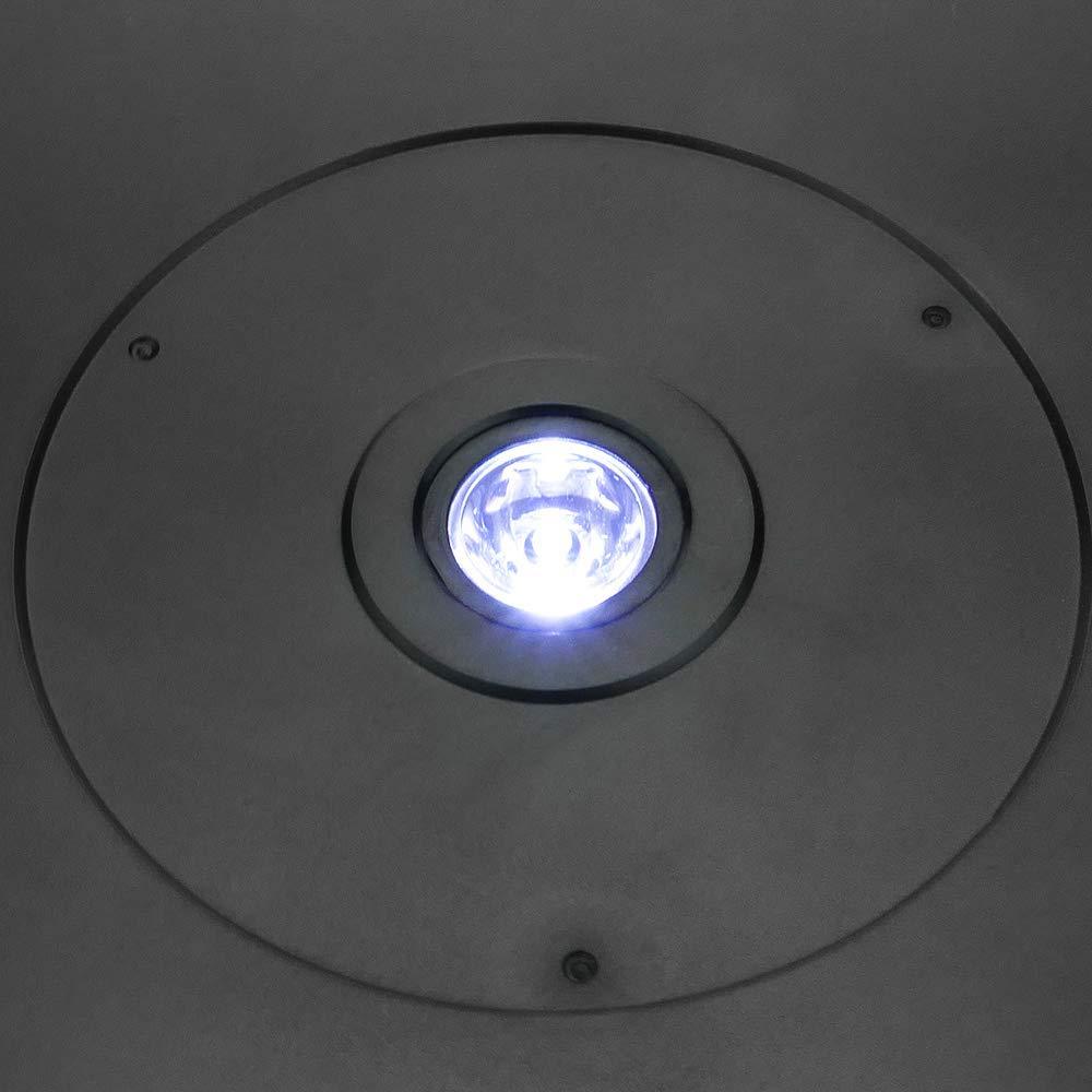 Base giratoria el/éctrica de 25 cm PrimeMatik Plataforma Rotatoria de Color Negro con iluminaci/ón LED