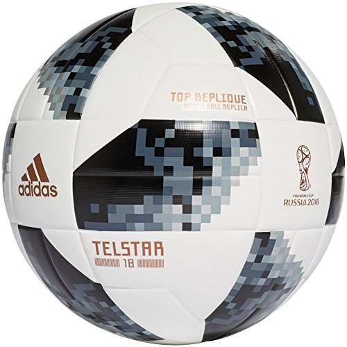 adidas (CE8091) FIFA World Cup Top Replique Ball White/Black/Silver Metallic, 5