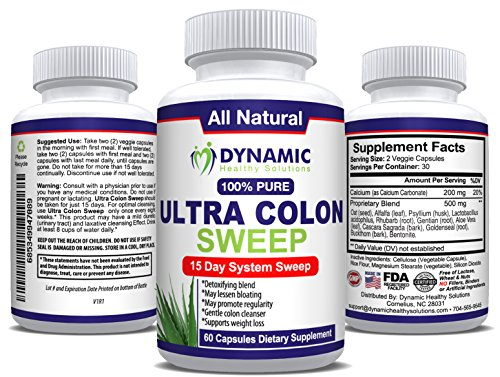 Natural Constipation Relief - Colon Detox and Cleanser - 15 Day Formula - 60 Vegetarian Capsules