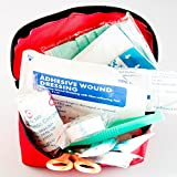 Under Control Tactical Best First Aid Kit for Survival, Camping, Travel in Car - Includes Red Cross Bag & All Supplies!