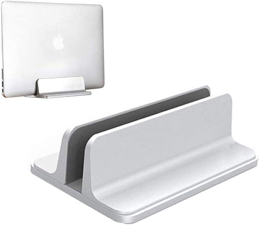 Houkiper Soporte Vertical Portátil, Aluminio Portátil Soporte Vertical Que Ahorra Espacio para Macbook Pro Air, Lenovo y Otros Portatiles