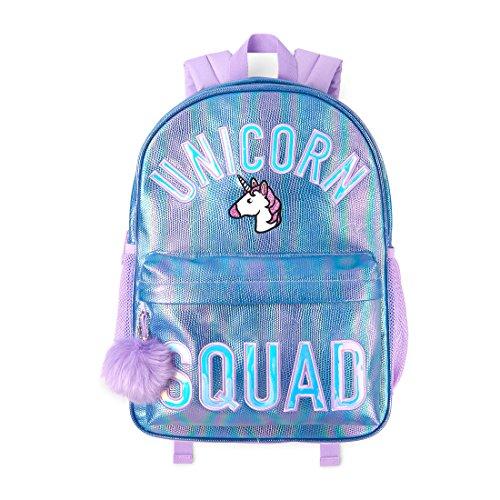 Girl Big Girl Backpack - The Children's Place Big Girls' Backpack, Lacrosse Violet NEON 00824, NO Size