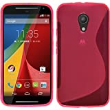Silicone Case for Motorola Moto G 2014 2. Generation - S-Style hot pink - Cover PhoneNatic + protective foils